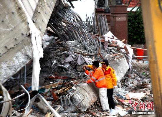 花莲县消防局:特搜队距5名大陆受困者所在房间还有4米