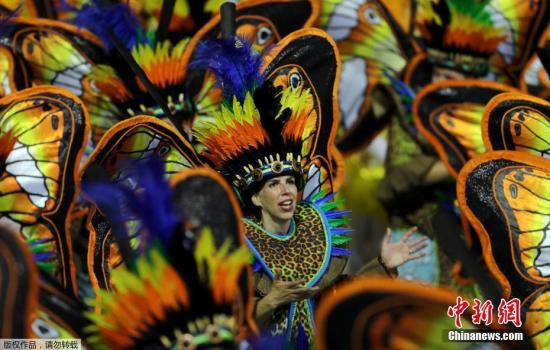 资料图:巴西狂欢节在圣保罗举行。