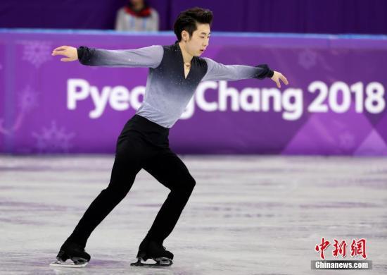 2月17日,平昌冬奥会花样滑冰男子单人滑自由滑比赛在江陵冰上运动场进行。中国选手金博洋以短节目和自由滑总分297.77排名第四,创造中国选手在冬奥会该项目比赛中的历史最好成绩。 <a target='_blank' href='http://www.chinanews.com/'>中新社</a>记者 宋吉河 摄