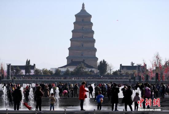 资料图:西安大雁塔。中新社记者 张远 摄