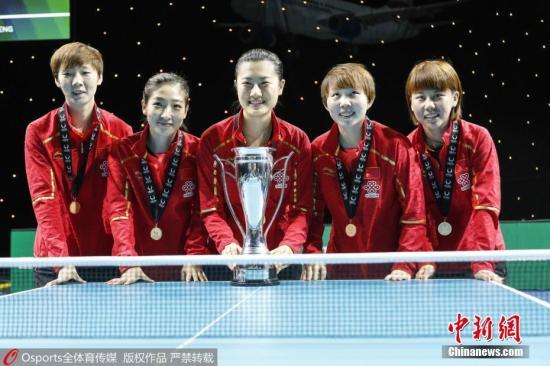 2018世界杯团体赛,朱雨玲担任队内的主力单打,帮助国乒夺冠。 图片来源:Osports全体育图片社