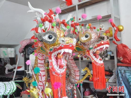 """广西千年民俗""""炮龙节"""" 数十万人狂欢祈福新年"""