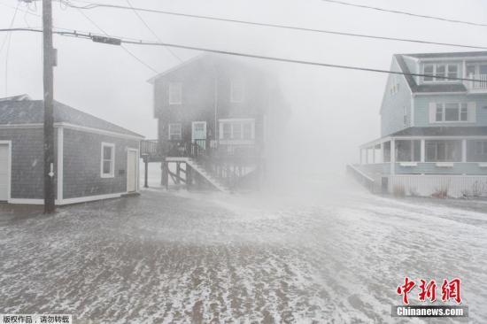 资料图:美国遭遇大规模暴风雪席卷 。