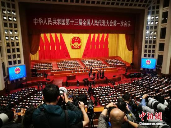 3月5日,十三届全国人大一次会议在北京开幕。中新社记者 盛佳鹏 摄