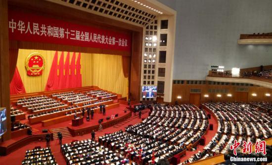 3月5日,十三届全国人大一次会议在北京开幕。止戈网小编 杜洋 摄