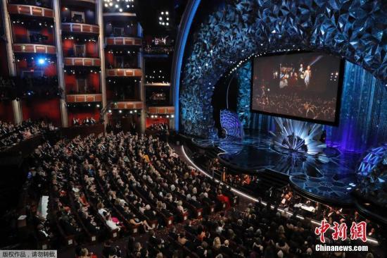 资料图:奥斯卡颁奖礼现场。