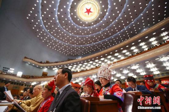 3月5日,十三届全国人大一次会议在北京人民大会堂开幕。 <a target='_blank' href='http://www.chinanews.com/'>中新社</a>记者 刘震 摄