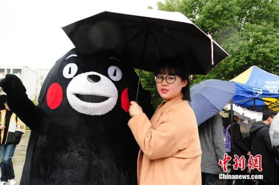 资料图:熊本熊受到很多人的喜欢。 葛世泽 摄