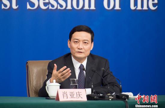 资料图:国务院国资委主任肖亚庆。 记者 李卿 摄