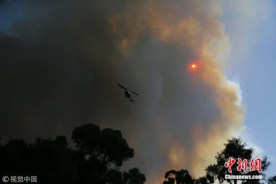 资料图:山火。图片来源:视觉中国