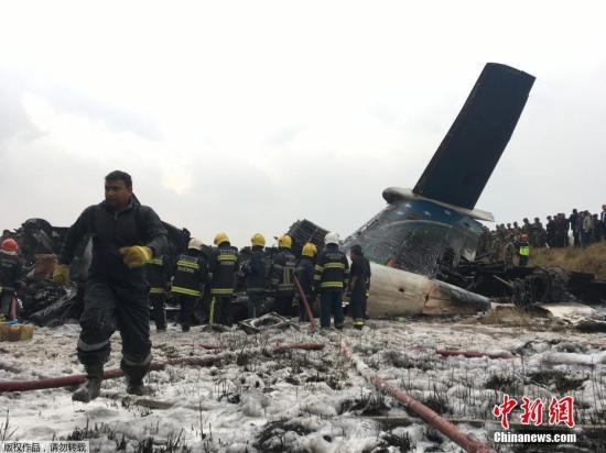 孟加拉国US-Bangla航空公司一架飞机在尼泊尔加德满都特里布万国际机场不远处坠毁。