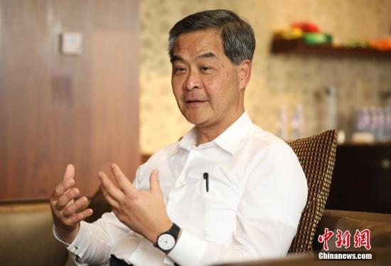 资料图:全国政协副主席梁振英。 <a target='_blank' href='http://www-chinanews-com.80012306.com/'>中新社</a>记者 泱波 摄