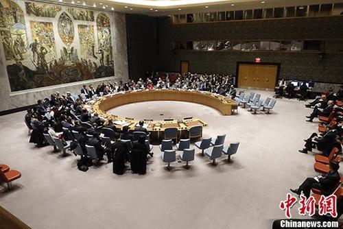 当地时间3月14日,联合国安理会在纽约联合国总部召开紧急会议,审议近日英国发生的人员中毒事件。 /p中新社记者 廖攀 摄