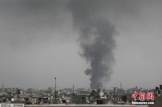 资料图:硝烟弥漫的叙利亚。