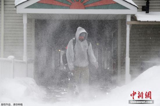 资料图:美国东部遭冬季风暴。