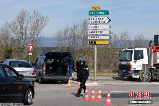 当地时间3月23日,法国南部特雷布斯镇(Trebes)一家超市发生人质劫持事件。