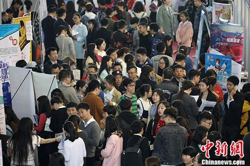 资料图:招聘会现场。 <a target='_blank' href='http://www-chinanews-com.lianlimc.com/'>中新社</a>记者 泱波 摄