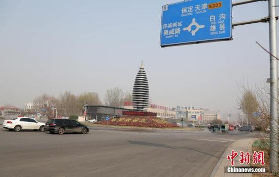 容城地标性建筑容和塔。韩冰 摄