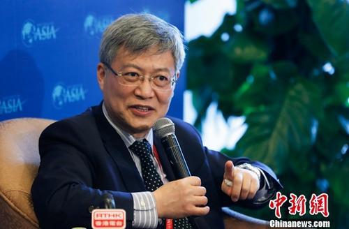 4月8日,中国社科院世界经济与政治研究所所长张宇燕在博鳌论坛接受媒体专访。<a target='_blank' href='http://www.chinanews.com/'>中新社</a>记者 杜洋 摄