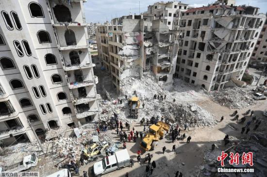 资料图:叙利亚伊德利卜省。
