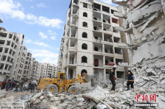 原料图:叙利亚伊德利卜省。