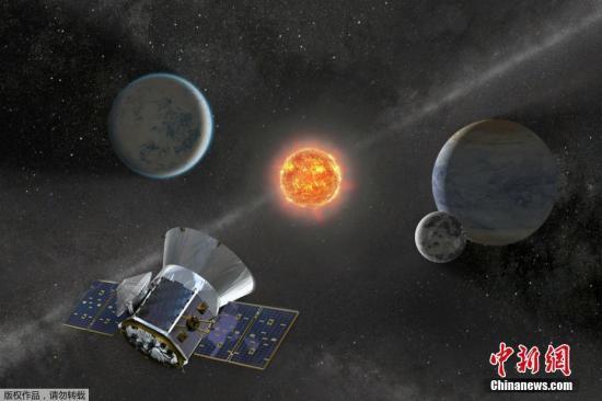 """据外媒报道,美国宇航局(NASA)原定于16日从佛罗里达州卡纳维拉尔角发射的探测卫星""""苔丝""""(TESS),发射日期推迟到了当地时间18日。NASA称,""""苔丝""""状况良好,在进行额外的指导导航控制分析。图为TESS探测卫星的概念图。"""