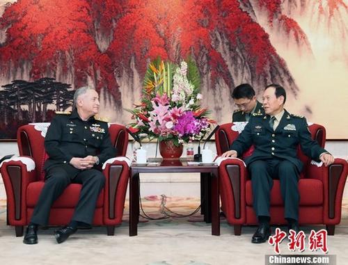 魏凤和会见巴基斯坦海军参谋长