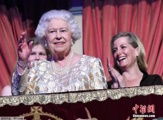 资料图:英国女王伊丽莎白二世(Queen Elizabeth II)。