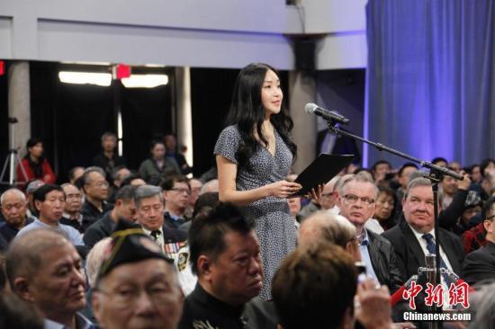 图为在温哥华出生、成长的17岁华裔青年蔡珍仪作为华社代表发言,对当局的道歉作出回应。<a target='_blank' href='http://www-chinanews-com.wevzite.com/'>中新社</a>记者 余瑞冬 摄