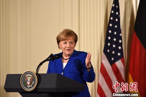 资料图:德国总理默克尔。中新社记者 刁海洋 摄
