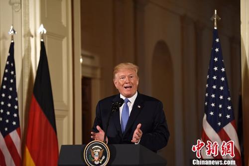 原料图:美国总统特朗普。中新社记者 刁海洋 摄