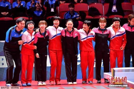 世乒赛女团半决赛朝韩联队0:3不敌日本队