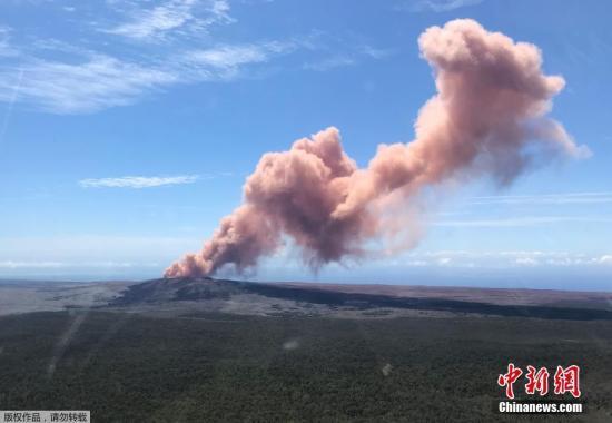 基拉韦厄火山喷发。