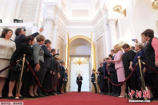 7日,俄罗斯当选总统普京就职典礼举行。