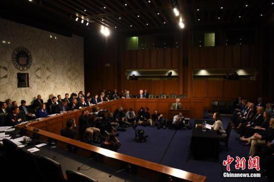 资料图:美国国会参议院。 <a target='_blank' href='http://www.chinanews.com/'>中新社</a>记者 刁海洋 摄