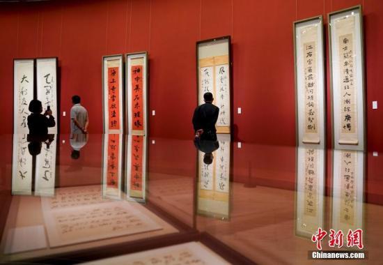 """""""为万世开太平――于右任书法作品展""""在中国美术馆开幕。/p中新社记者 杜洋 摄"""