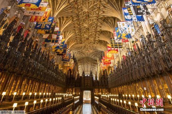 英国哈里王子大婚将至,将与未婚妻梅根・马克尔在温莎城堡圣乔治教堂举行婚礼。(资料图片)