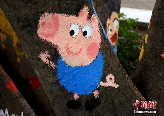 资料图:英国动画片《小猪佩奇》。 汤二田 摄