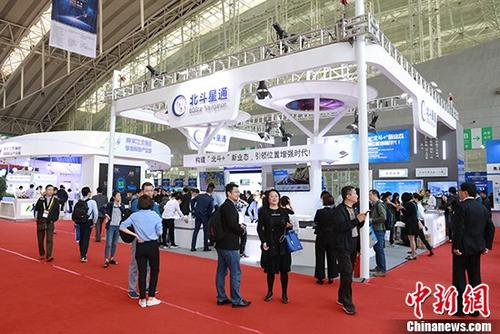 5月23日,第九届中国卫星导航技术与应用成果展在哈尔滨举行。 中新社记者 于琨 摄