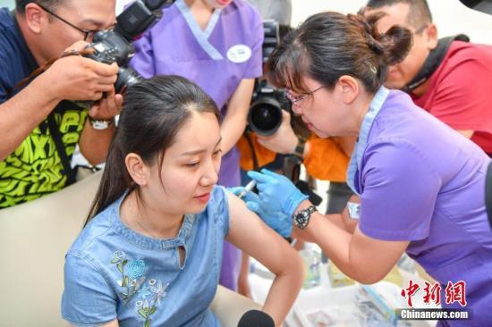 资料图:接种疫苗。<a target='_blank' href='http://www.chinanews.com/'>中新社</a>记者 骆云飞 摄