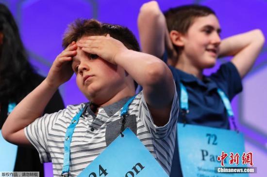 当地时间5月31日,一年一度的全美拼字大赛决赛在美国马里兰州举行,今年共有来自美国各地的516名选手参加。
