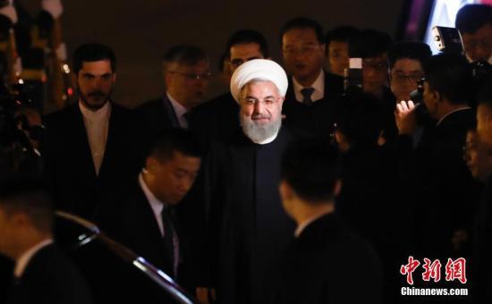材料图:伊朗总统鲁哈僧。 a target='_blank' href='http://www.chinanews.com/'中新社/a记者 杜洋 摄