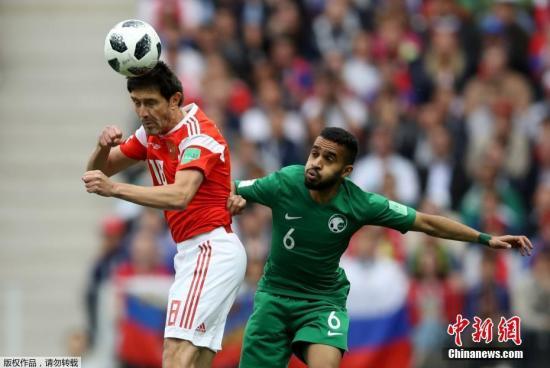 北京时间6月14日23点,俄罗斯世界杯揭幕战在莫斯科卢日尼基体育场打响,东道主俄罗斯对阵沙特阿拉伯。第11分钟,俄罗斯队8号加津斯基打入本届世界杯首个进球。