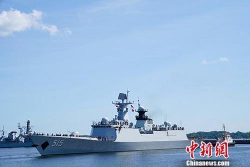 中国水师滨州舰参与波兰水师成立100周年庆典海上阅兵