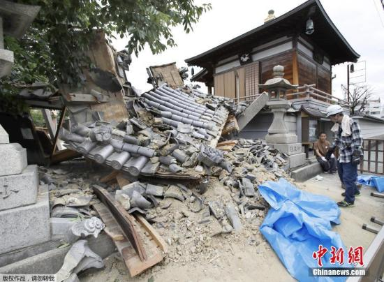 6月18日,日本大阪府发生6.1级地震,部分建筑物受损严重。