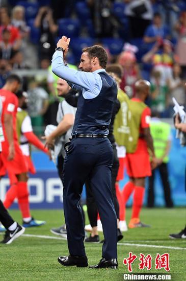 英格兰队主教练索斯盖特。 <a target='_blank' href='http://www.chinanews.com/'>中新社</a>记者 毛建军 摄