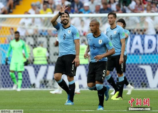 随着乌拉圭击败沙特,本届世界杯产生了率先杀入16强的两支球队。位于A组的乌拉圭与东道主俄罗斯同积6分,携手晋级。而埃及队与沙特队两战皆负,步摩洛哥队后尘,提前无缘淘汰赛。
