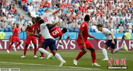 英格兰6-1大胜巴拿马。