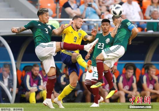 北京时间6月27日晚,世界杯小组赛F组最后一轮同时拉开战幕,此前两战全胜的墨西哥在叶卡捷琳堡迎战瑞典队。最终背水一战的瑞典队以3-0大胜对手,凭借净胜球优势小组头名出线。