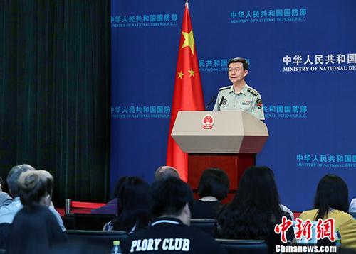 6月28日,中国国防部消息说话人吴谦在北京的例行记者会上表示,中国和东盟十国年内将举办海上联演。记者 宋吉河 摄